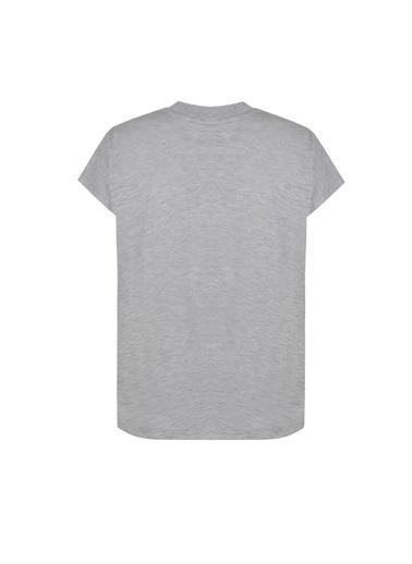 Deux Beautés Nina Balıkçı Yaka T-Shirt Gri